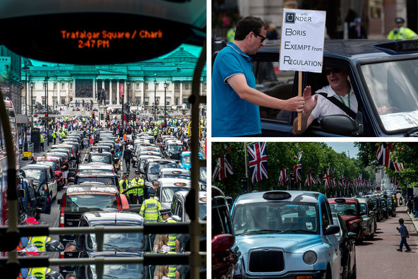 In June, thousands of taxi drivers gridlocked London streets to protest against Uber, the smartphone app-based ride-sharing company.
