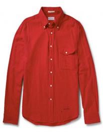 Gant Rugger Button-down Collar Slubbed Cotton-flannel Shirt