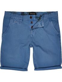 River Island Blue Chino Shorts