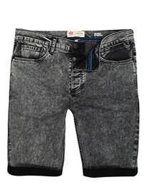 River Island Black Acid Wash Skinny Stretch Shorts