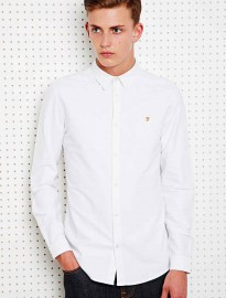 Farah Oxford Shirt In White