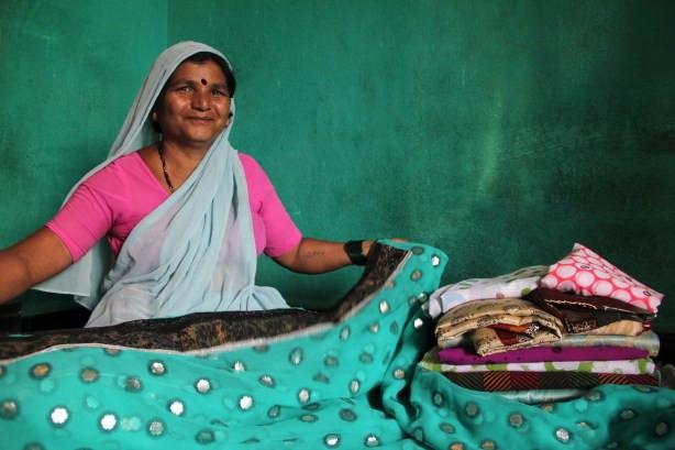Former Devadasi Kasturi is in the textiles business