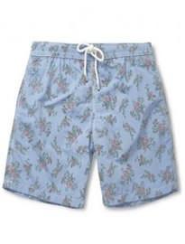 Hartford Flower-print Mid-length Swim Shorts