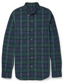 J.crew Slim-fit Button Down-collar Checked Cotton Shirt