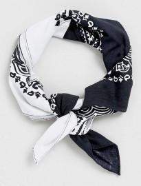 Topman Black And White Bandana