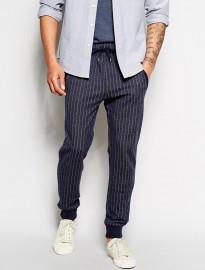 Boss Orange Slim Sweatpants With Fine Stripe