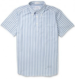 Gant Rugger Striped Cotton-oxford Half-placket Shirt