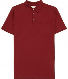 Reiss Wilson Patch Pocket Polo Shirt Cherry