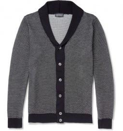 John Smedley Textured-knit Cotton Shawl-cotton Cardigan