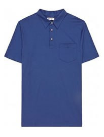 Reiss Wilson Patch Pocket Polo Shirt Blue