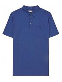 Reiss Wilson Patch Pocket Polo Shirt Blue