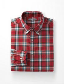 Uniqlo Men Extra Fine Cotton Broadcloth Check Long Sleeve Shirt