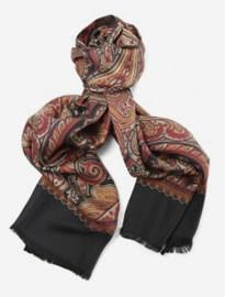 Jules B Reversible Paisley Silk Scarf