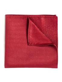 Topman Red Lurex Pocket Square