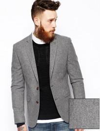 Asos Slim Fit Blazer In Tweed