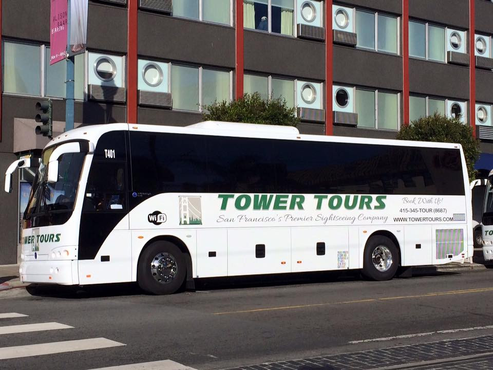 Midsize Tower Tours motorcoach