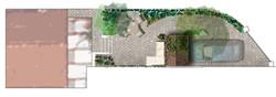 Plan masse jardin