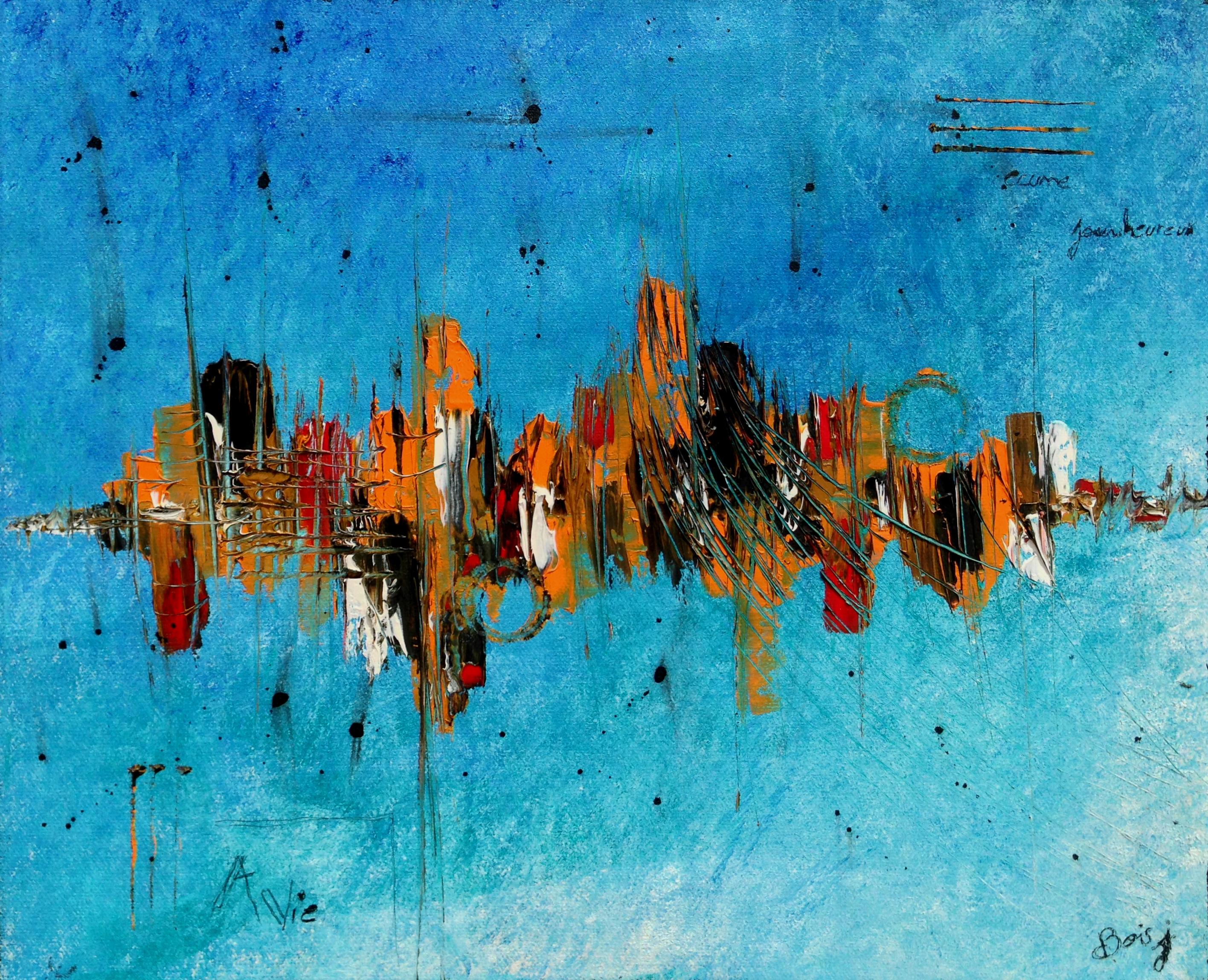 Ville bleu abstrait
