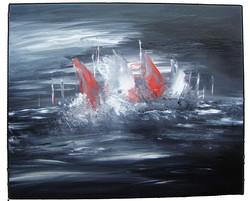 Marine régate abstrait