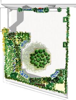 Plan masse projet jardin