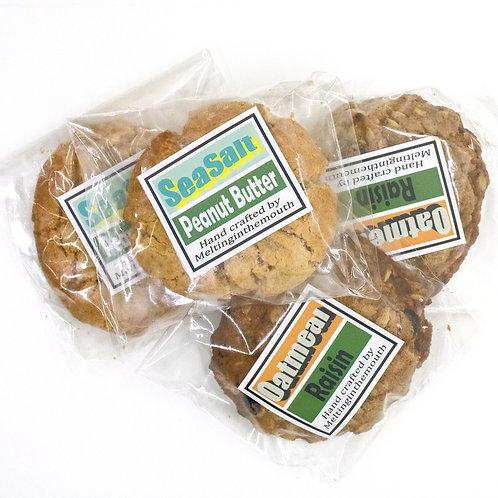 オートミール·レーズンクッキー&ピーナッツバタークッキー6枚セット。