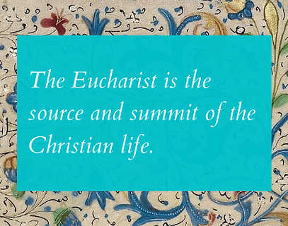 By the Eucharistic celebration we alread