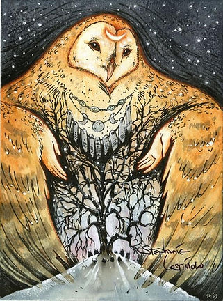 Shamanic drumming with owl.jpg