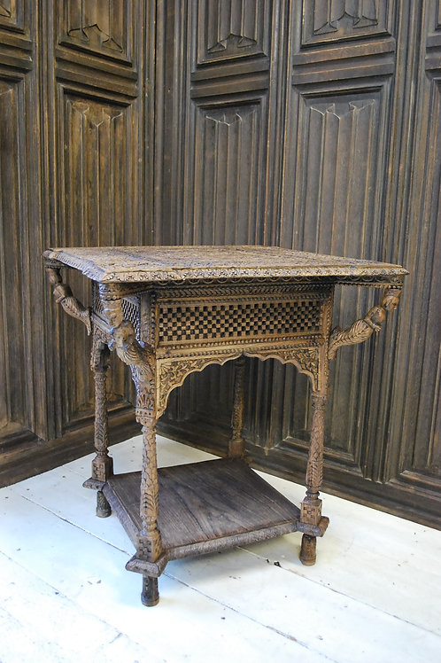 Antique carved Burmese occasional Table