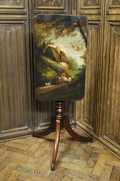 Regency mahogany and painted tripod table