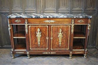 French Empire mahogany side cabinet