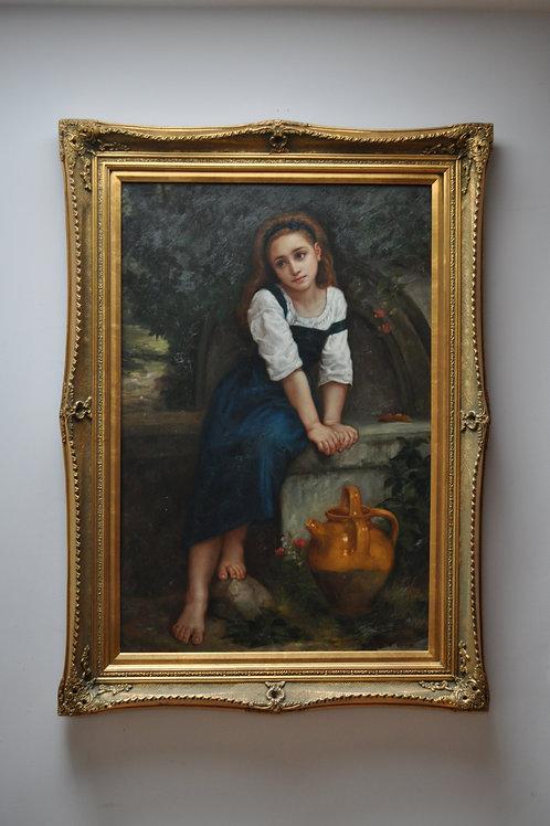 Jeune Fille a la cruche 1885-William Adolphe Bouguereau repro