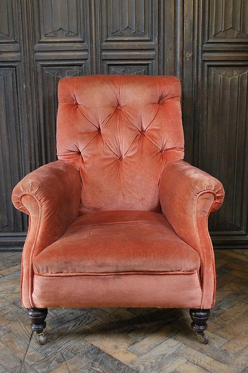 Victorian upholsterd armchair