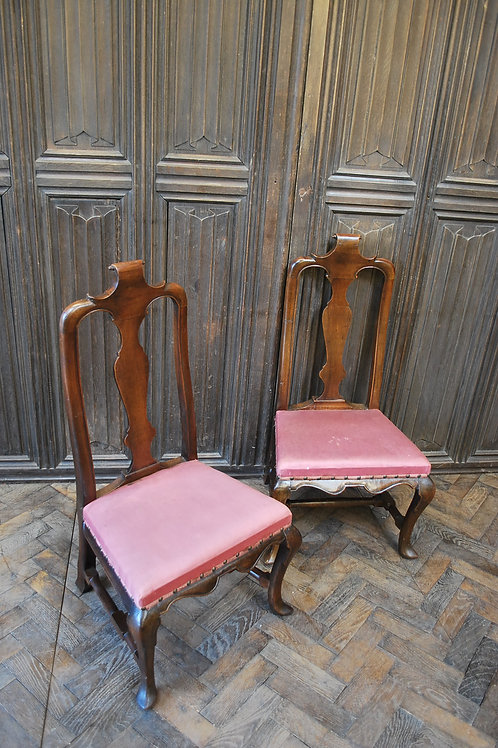 Pair of Queen Anne period child's chairs