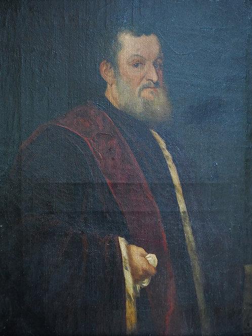 Antique 17th Century Portrait of a Gentleman