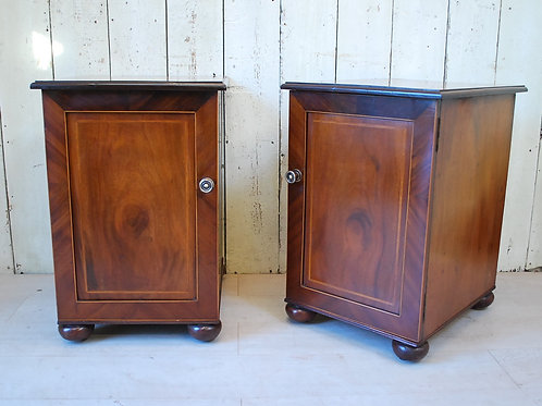 Antique Pair of Mahogany Bedside Cabinets