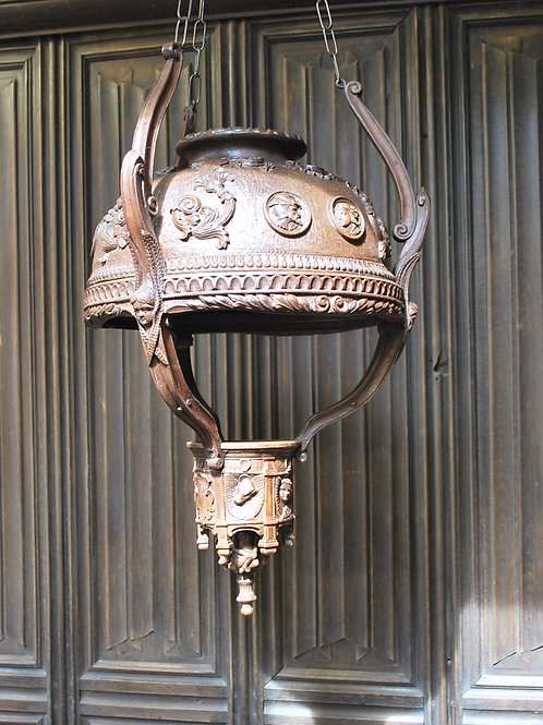 Carved Wood Italian Lantern