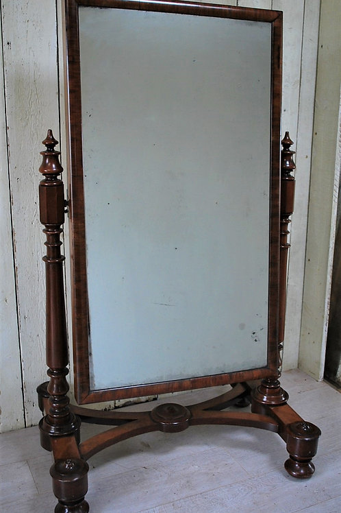 antique Mahogany Cheval Dressing Mirror