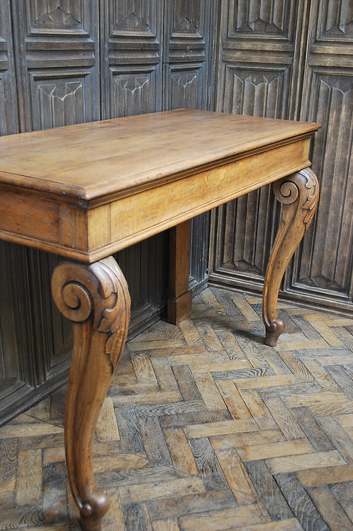 Antique Oak Console Hall Table