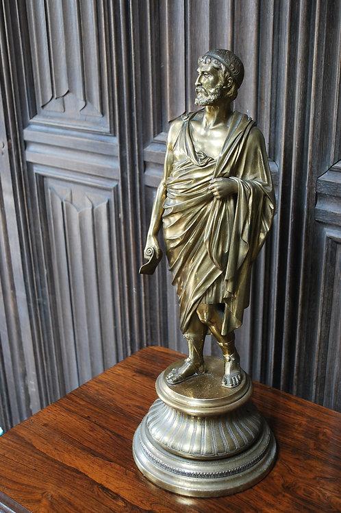 Grand Tour Gilt Bronze Roman Scholar