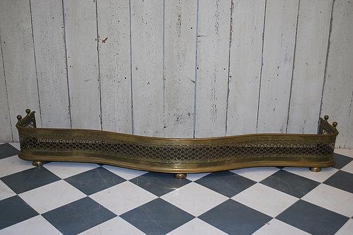 Antique country house serpentine brass fender