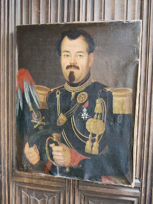 Oil Painting of a 19th Century French Officer