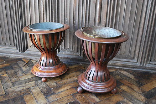 Pair of Mahogany Oyster Buckets/ Wine Coolers