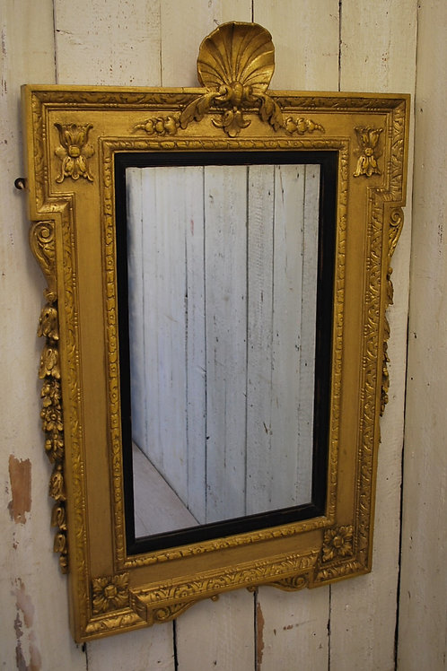 Antique French C.19th Gilt Wall/overmantle Mirror