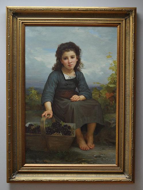 Petite vendageuse-William Adolphe Bouguereau reproduction