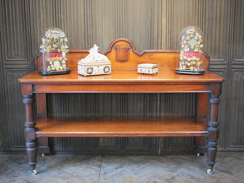 Large Antique Country House Mahogany Server/ Console