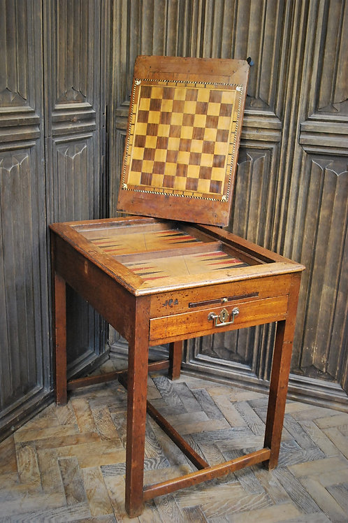 Antique French Tric Trac Games Table