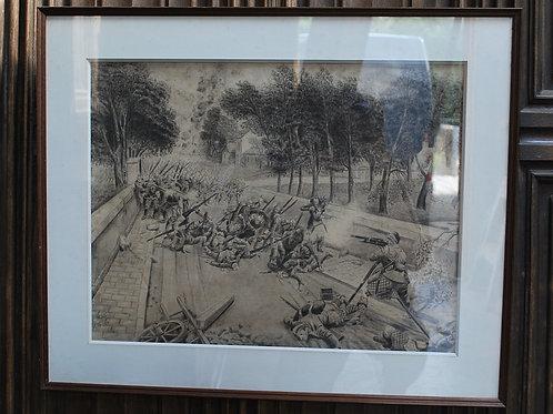 Heroic Highlander, WW1 Drawing