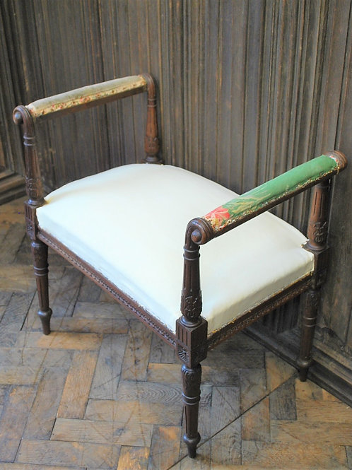 Antique French dressing table stool