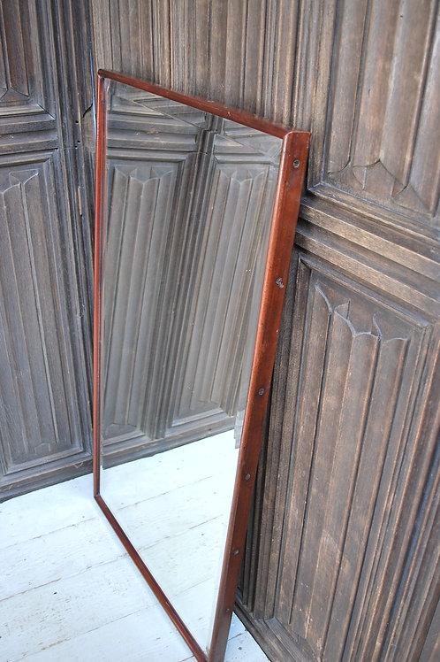 Antique Mahogany French Shop Mirror