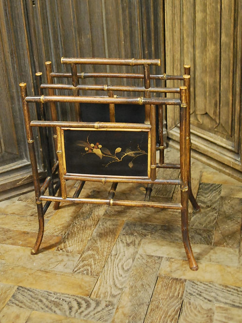 Antique bamboo magazine rack/Canterbury